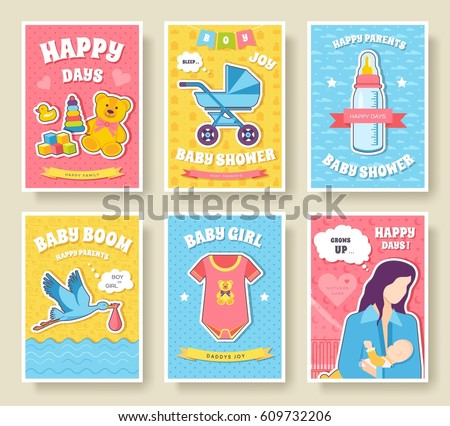 Vector breed cats icons set cute stock vector 507626143 for Breastfeeding brochure templates