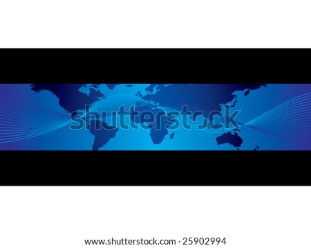 World business banner - stock vector