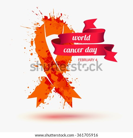 World cancer day. February 4 - stock vector