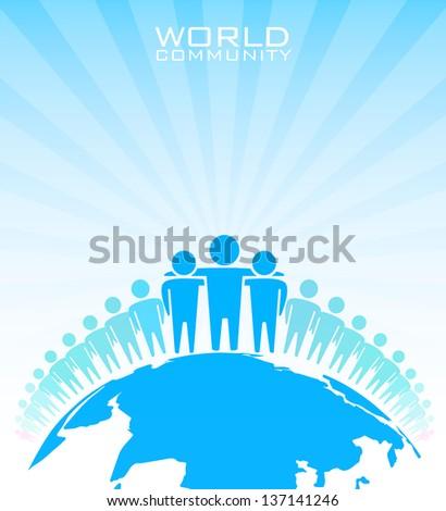 World community - vector illustration - stock vector