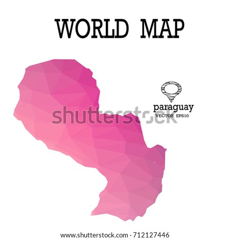 Paraguay Maps Stock Images RoyaltyFree Images Vectors - Map of paraguay world