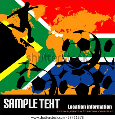 World Cup In South Africa 2010 - stock vector