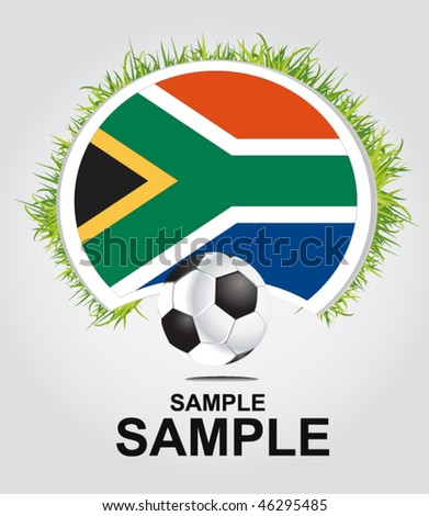 world cup in south africa - vector - stock vector