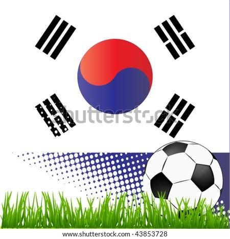 world cup south korea - stock vector