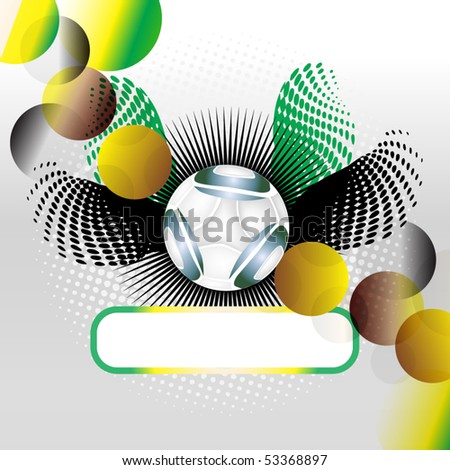 world cup 2010, space for text - stock vector