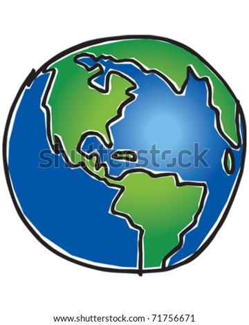 World Drawing - stock vector