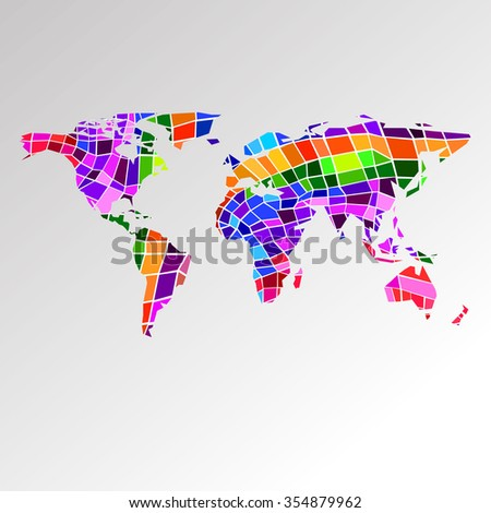 Polygonal colorful world map origami style stock vector 521271778 world earth vector travel illustration geography map australia africa asia planet gumiabroncs Choice Image