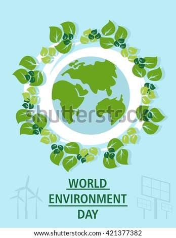 World environment day concept. Earth Day concept. Ecology design concept with air, water and soil. Flat icons isolated vector illustration.