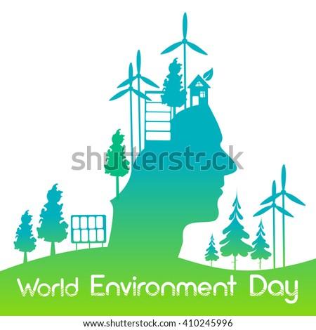 World Environment Day. Vector Illustration - stock vector
