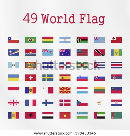World  Flag on a white background - stock vector