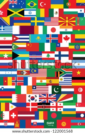 world flags background vector illustration