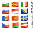 World flags. Europe. Vector. - stock photo