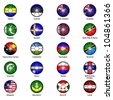World Flags in Footballs Pack 7 - stock photo