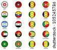 World Flags in Footballs Pack 2 - stock photo