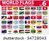 World Flags | Ultimate Collection | 287 flags | Volume 6 - stock vector