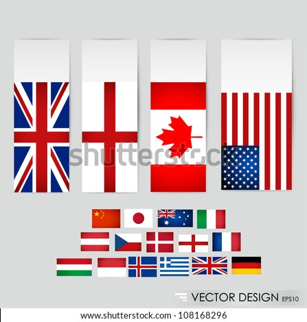World flags. Vector illustration. - stock vector