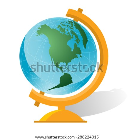 World globe on stand vector illustration stock vector 288224315 world globe on a stand vector illustration gumiabroncs Image collections