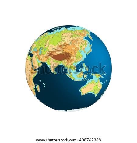 Eastern Hemisphere. Asia, Australia And Indian Ocean.