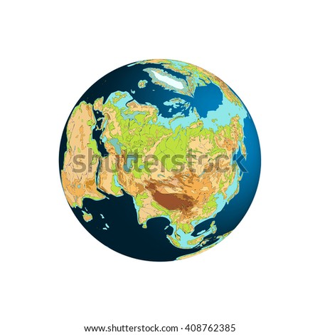 Elegant Eastern Hemisphere. Europe, Asia, And Arctic Ocean