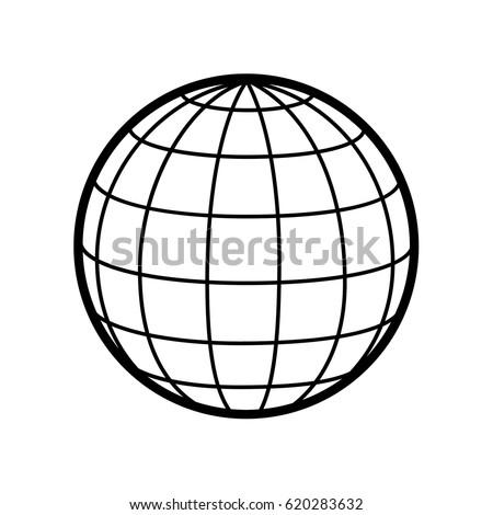 world globe vector icon logo 3 d stock vector 620283632 shutterstock rh shutterstock com vector sphere grid vector sphere logo