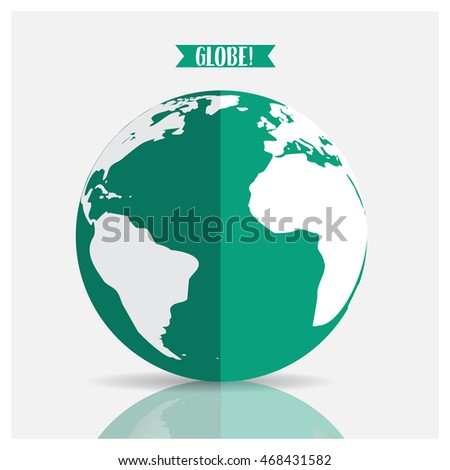 World globe, vector illustration