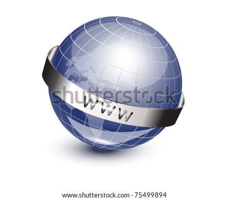 World globe vector illustration, 10eps - stock vector
