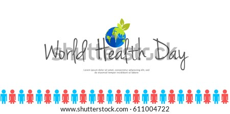 World Health Day Poster Banner Background Stock Vector 611004722