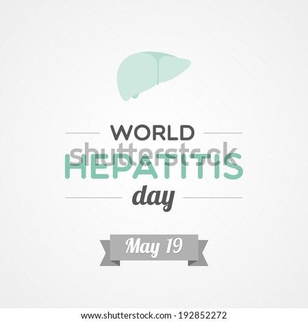World Hepatitis Day - stock vector