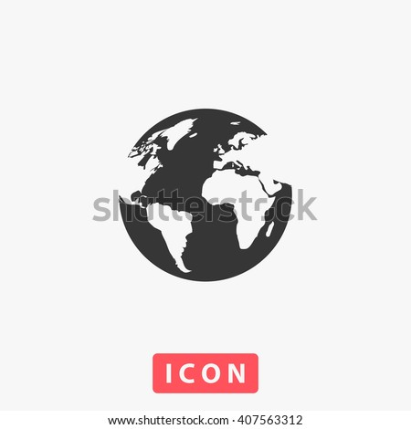world Icon.  - stock vector