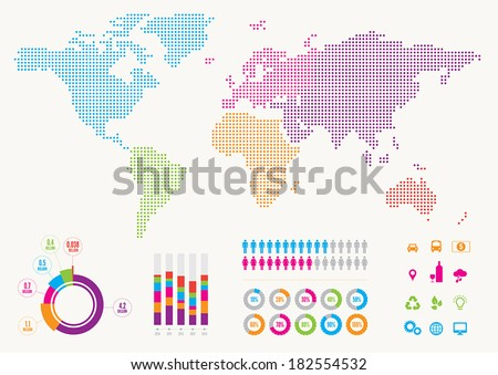 World Infographic - stock vector