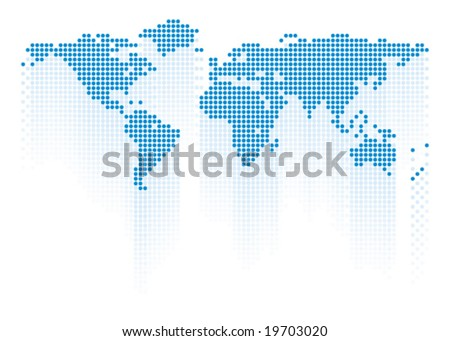 World map. - stock vector