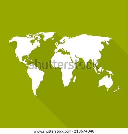 World map flat design long shadow stock vector 218674048 world map a flat design long shadow for web and mobile app gumiabroncs Gallery