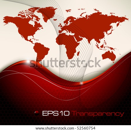 World map abstract background - vector illustration