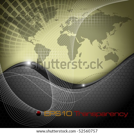 World map abstract background - vector illustration - stock vector