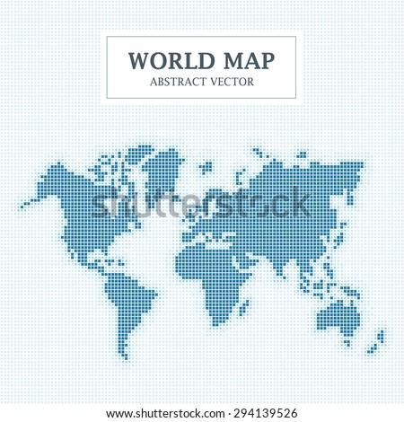 World Map Abstract Dot Design. Vector Illustration. - stock vector