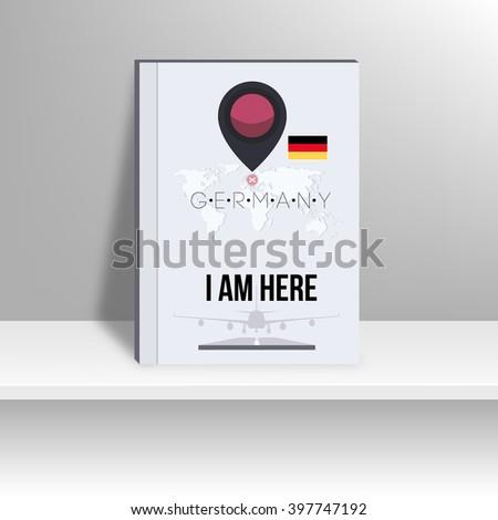 World Map and Famous Landmark. vector, illustration design. - stock vector