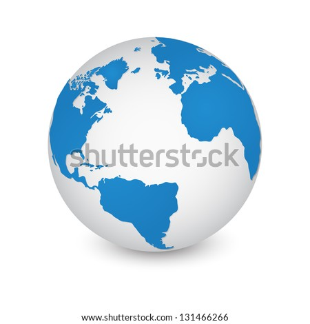 World Map and Globe Detail Vector Illustration, EPS 10. - stock vector