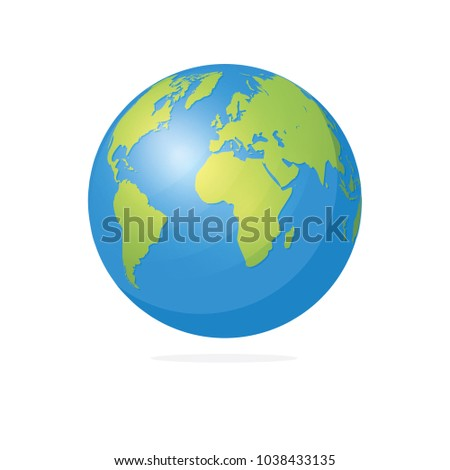 World map globe vector illustration vectores en stock 1038433135 world map and globe vector illustration gumiabroncs Choice Image