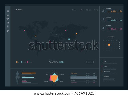 World map application ux ui vector stock vector hd royalty free world map application ux ui vector illustration gumiabroncs Image collections