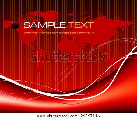 world map background concept - vector illustration - jpeg version in my portfolio - stock vector