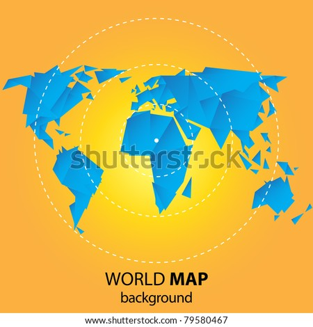 World map background origami style stock vector 79580467 shutterstock world map background in origami style gumiabroncs Gallery