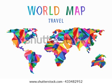 World map background polygonal stylecreative concepttravela stock world map background in polygonal styleeative conceptavela stylized map of gumiabroncs Images