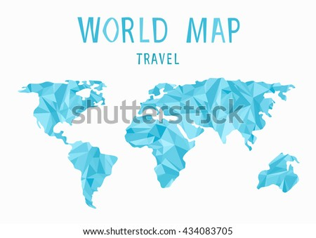 World map background polygonal style creative concept travel globe world map background in polygonal styleeative conceptavelobe map low poly gumiabroncs Gallery