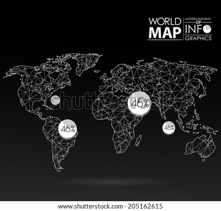 World map background polygonal style modern stock vector 205162615 world map background in polygonal style modern elements of info graphics world map gumiabroncs Images