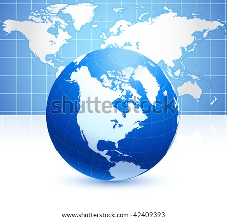world map background with globe