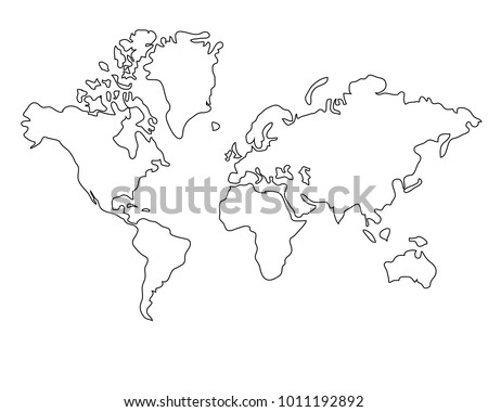 World map black white vectores en stock 1011192892 shutterstock world map black and white gumiabroncs Gallery