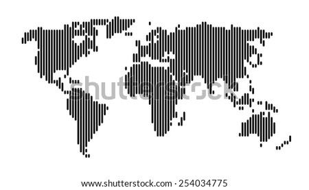 World map black vertical lines pattern vectores en stock 254034775 world map black vertical lines pattern eps 10 gumiabroncs Images