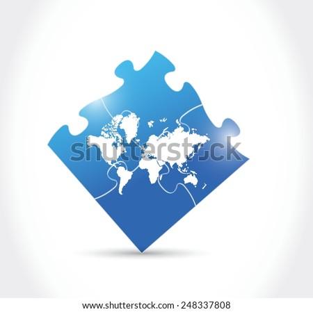 World map blue puzzle illustration design stock vector 248337808 world map blue puzzle illustration design over a white background gumiabroncs Choice Image