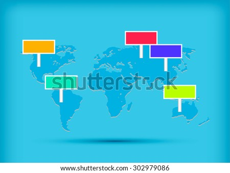 World Map. Business Infographics. Vector Graphs Elements. Infographic Element. Vector Illustration