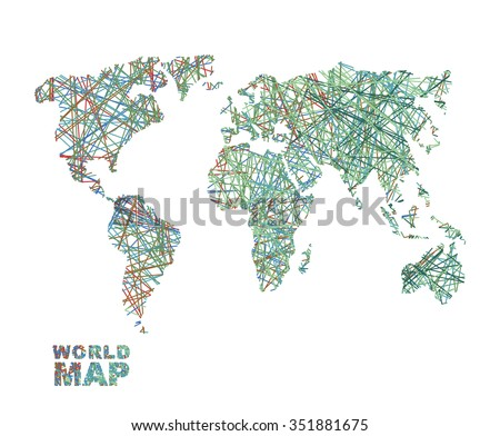 World map colored lines global internet stock vector 351881675 world map colored lines global internet network connects matter of planet earth business concept gumiabroncs Images